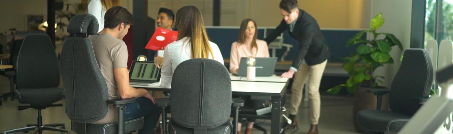 Collaborative adjustable desking