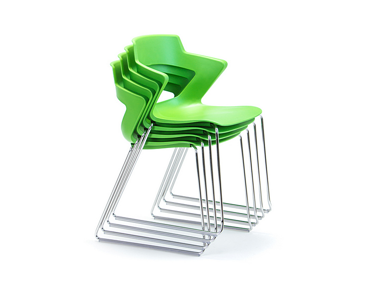 Zen Visitor Chair - Stacking Sled