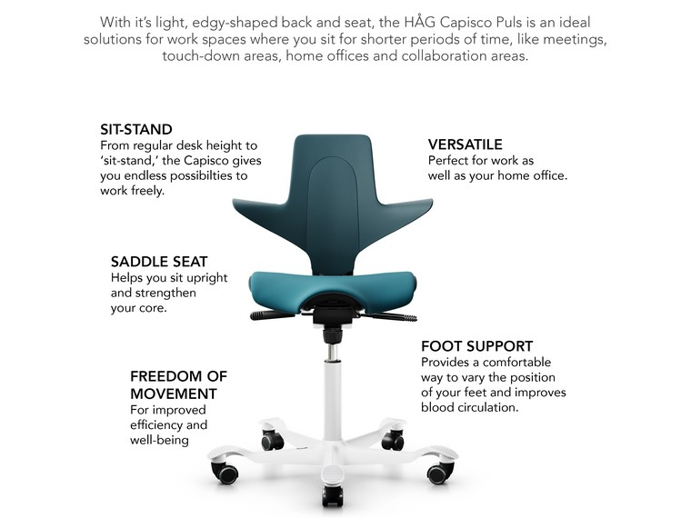 HAG Capisco Puls with Seat Cushion